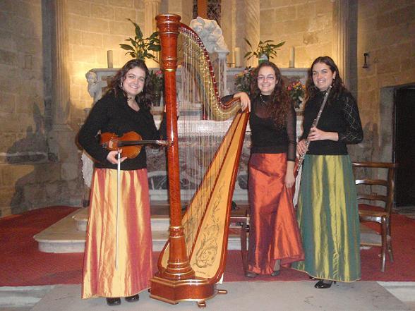 Le Trio Pigaglio , Concert de Noël à l'église de Noves, le 14 décembre 2008